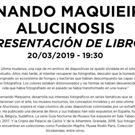 PRESENTACIÓN ALUCINOSIS EN MECÀNIC BARCELONA
